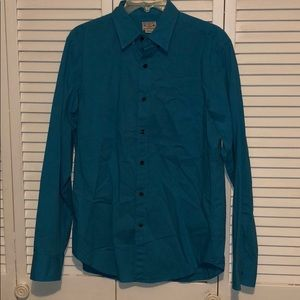 Amazing condition real/blue J crew button down